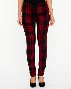 Plaid Slim Fit Pant - Infuse your chic look with a punkie plaid statement pant.