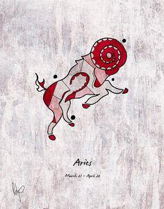Aries Zodiac Ram #illustration