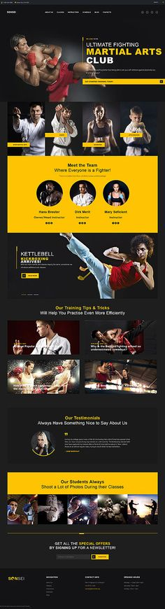 Martial Arts Club #Wordpress #template. #themes #business #responsive…