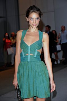 Emily Didonato in Strappy Green Dress. Vogue, Looks Style, My Style, Emily Didonato, Vetement Fashion, Fashion Sites, Fashion Beauty, Womens Fashion, Classy And Fabulous