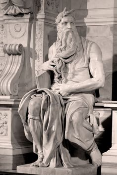 Michelangelo - Moses. Every time I see it, I get lost in its perfection!