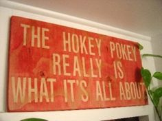 Learn to make the DIY wall art Hokey Pokey sign or your own version of it, by following the simple instructions in this article. More on the cheap wall art ideas and tips here.