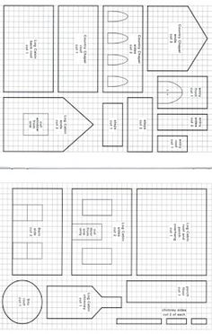 Free Gingerbread House Templates Printable | Piece the main part of the church together. Place the smaller stair ...