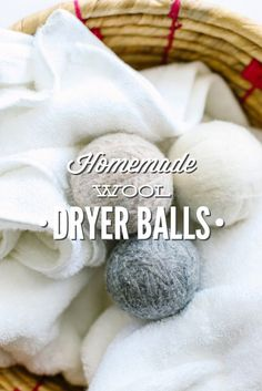 These homemade dryer balls are amazing! My laundry is super soft and I don't have to deal with static. So easy to make and inexpensive compared to buying them from Amazon or the store. Deep Cleaning Tips, Natural Cleaning Products, Cleaning Hacks, Green Cleaning, Cleaning Recipes, Powder Laundry Soap, Zero Waste Home, Roving Yarn, Wool Dryer Balls