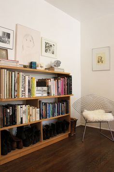 Looking for a bookcase like this... low, long (maybe even longer). Necessary custom job?