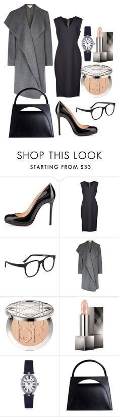"""Claire Underwood"" by martyshchuk ❤ liked on Polyvore featuring Christian Louboutin, Roland Mouret, Larke, pureDKNY, Christian Dior, Burberry, Frédérique Constant and J.W. Anderson"