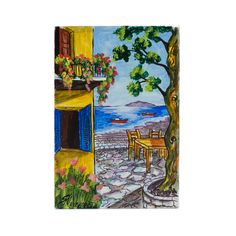 (Ελληνικά) Χειροποίητος πίνακας ζωγραφικής με τοπίο πάνω σε ξύλο ζωγραφισμένο με λαδομπογιάδες Under Construction, Greek, Museum, Paintings, Night, Places, Artwork, Handmade, Work Of Art