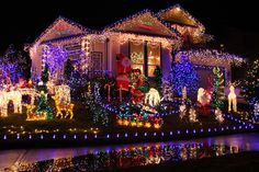 Fantastic Christmas Lights On House