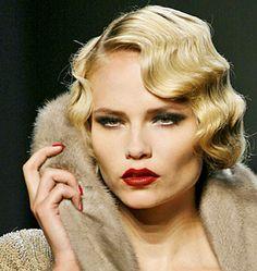 Perfect makeup, perfect hair, perfect fur