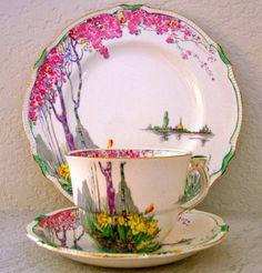 Vintage Royal Winton Grimwades Daffodil Tea Cup Saucer Plate Trio | eBay