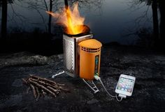 This Camp Stove Also Charges Your Devices - Love this!