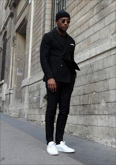Mens Fashion Tips .Mens Fashion Tips All Black Fashion, All Black Outfit, Black Outfits, All Black Wardrobe Men, All Black Men, Classy Fashion, Color Fashion, French Fashion, Indian Fashion