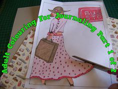Travel Journaling: Using Your Adult Colouring Pictures Part 1 Scrapbook Blog, Scrapbooking, Colouring, Adult Coloring, Journaling, Arts And Crafts, Pretty, Pictures, Travel