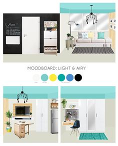Studio or converted units are now becoming my favorite project. They are quick to design and I love the challenge of space planning in such very limited area. A young soon-to-be married c… Condo Interior Design, Condo Design, White Interior Design, Studio Design, Small Space Living, Small Rooms, Small Apartments, Small Spaces, Studio Condo