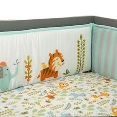 Achieve a wildly fun look in your nursery with this jungle-inspired Happi by Dena crib bumper set by Lambs & Ivy. Bed Bath & Beyond, Baby Crib Bedding, Bedding Sets, Crib Bumper Set, Baby Bedtime, Best Crib, Crib Skirts, Nursery Neutral, Baby Boy Nurseries