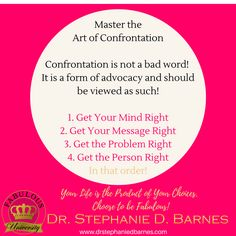 Do it with no hands!  But make sure you do it!  Confrontation is good for the soul! #fabulousuniversity