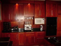 Red Mahogony kitchen Kitchens, Kitchen Cabinets, Red, Home Decor, Decoration Home, Room Decor, Cabinets, Kitchen, Cuisine