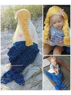 Crochet Patterns - Mermaid Hooded Blanket Crochet Pattern