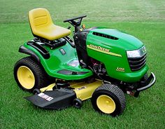some people have santa come in a sleigh but the schreiber family has santa come on a lawn mower