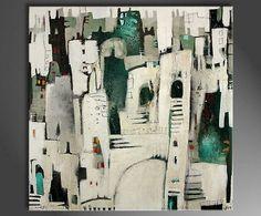 "Moderne Malerei originales Acrylgemälde, Conny Niehoff: ""Altstadtbummel"" - Inspire Art - Galerie für abstrakte Kunst"