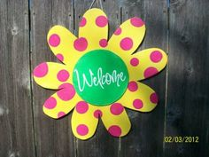 Flower Door Hanger