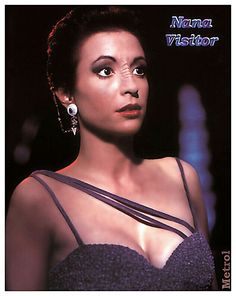 "The women of Star Trek TV Series: Deep Space Nine. Nana Visitor, oh so cute!. She plays ""Kira Nerys""."