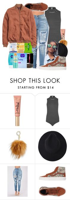 """""""Never Been On The Fakeish Always On The Realist"""" by denise-loveable-bray ❤ liked on Polyvore featuring Too Faced Cosmetics, Paige Denim, MICHAEL Michael Kors and Vans"""