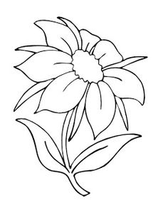 DRAWINGS TO PAINT Flowers