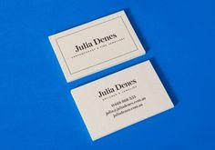 Letterpress business card for jewellery designer Julia Denes by Studio Sammut.