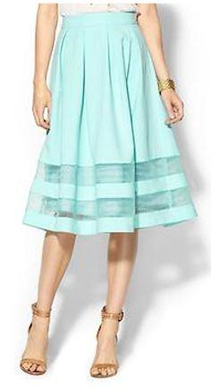 Beautiful midi organza skirt http://rstyle.me/n/isx4mnyg6