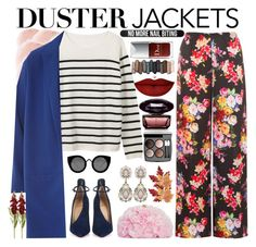 """""""Duster jacket// contest entry!// 2"""" by sephoragemmelle ❤ liked on Polyvore featuring WearAll, Christian Louboutin, Betsey Johnson, Quay, Croft & Barrow, Chanel, Anastasia Beverly Hills, Urban Decay, Bershka and NARS Cosmetics"""
