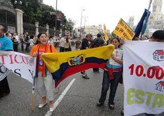 Ecuatorianos dicen PRESENTE en Madrid  Fotos:  Diario EL COMERCIO