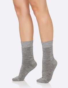 Women's Crew Boot Socks Grey Space Dye - Boody Eco Wear