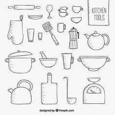risultati immagini per utensili cucina disegni | utensili cucina ... - Disegni Per Cucina