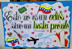 Feliz viaje Ideas Para Fiestas, Love Messages, Origami, Graffiti, Diy And Crafts, Unicorn, Birthdays, Collage, Children