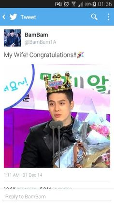 BamBam does it again :'D congrats Jackson!!