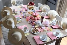 A Fancy Tea Party {DIY budget friendly birthday parties for kids} little girls party idea – Rain and Pine Toddler Tea Party, Girls Tea Party, Princess Tea Party, Tea Party Birthday, 4th Birthday, Birthday Ideas, Tea Party For Kids, Tea Parties, Garden Birthday
