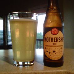 Mothership Wit Organic Wheat Beer,  New Belgium Brewing Co.,  Ft. Collins CO. Look at me being all green and drinking organic beer!