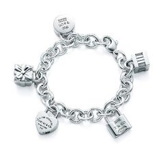 5d1c3a73a50a Tiffany Charm Bracelet. want this sooo bad Tiffany Outlet