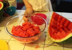 Learn how to easily cut a watermelon