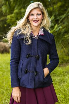 Close to Home Coat-Navy - New Today | The Red Dress Boutique