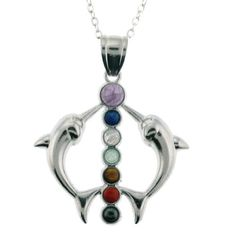 Natural Semi-Precious Stone Inlayed Chakra Dolphins « Holiday Adds