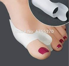 [Visit to Buy] Toe Separator Stretchers Silicone Gel foot Toe Separator thumb valgus protector Bunion adjuster Hallux Valgus Guard feet care #Advertisement