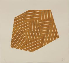 Richard Deacon  Orange & Yellow Division, 2012 woodblock on kozo paper, collaged onsaunders 300 cold pressed paper 110 × 120 cm