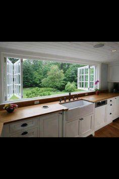 Beautiful open kitchen window
