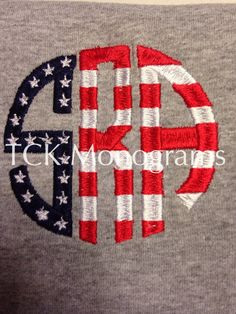 FREE SHIPPING!! Women's 4th of July monogram personalized preppy shirt patriotic on Etsy, $20.00