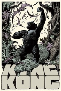 King Kong Poster - art by William Stout