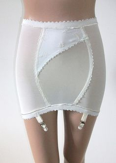 We actually wore these when we dressed up (no panty hose) We used the four garters to hold our hosiery up.  I'm still mentally scarred.
