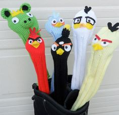 Angry Birds Golf Club Covers