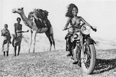 anyskin: Young Eritrean women on the Triumph Silent Scout B. 1934 Always.